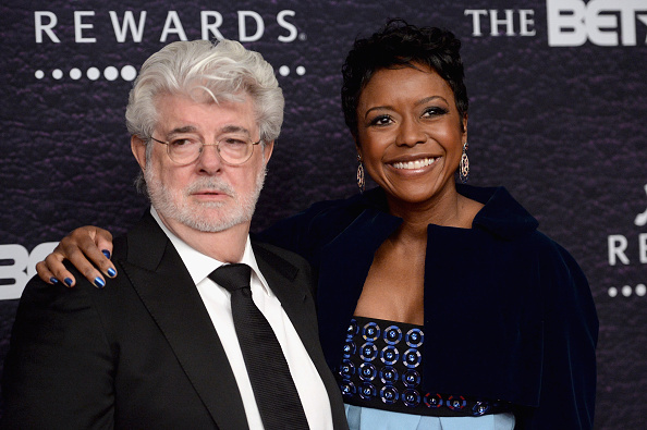 WASHINGTON, DC - MARCH 05: Honoree Mellody Hobson (R) and filmmaker George Lucas attend the BET Honors 2016 at Warner Theatre on March 5, 2016 in Washington, DC. (Photo by Paras Griffin/BET/Getty Images for BET)