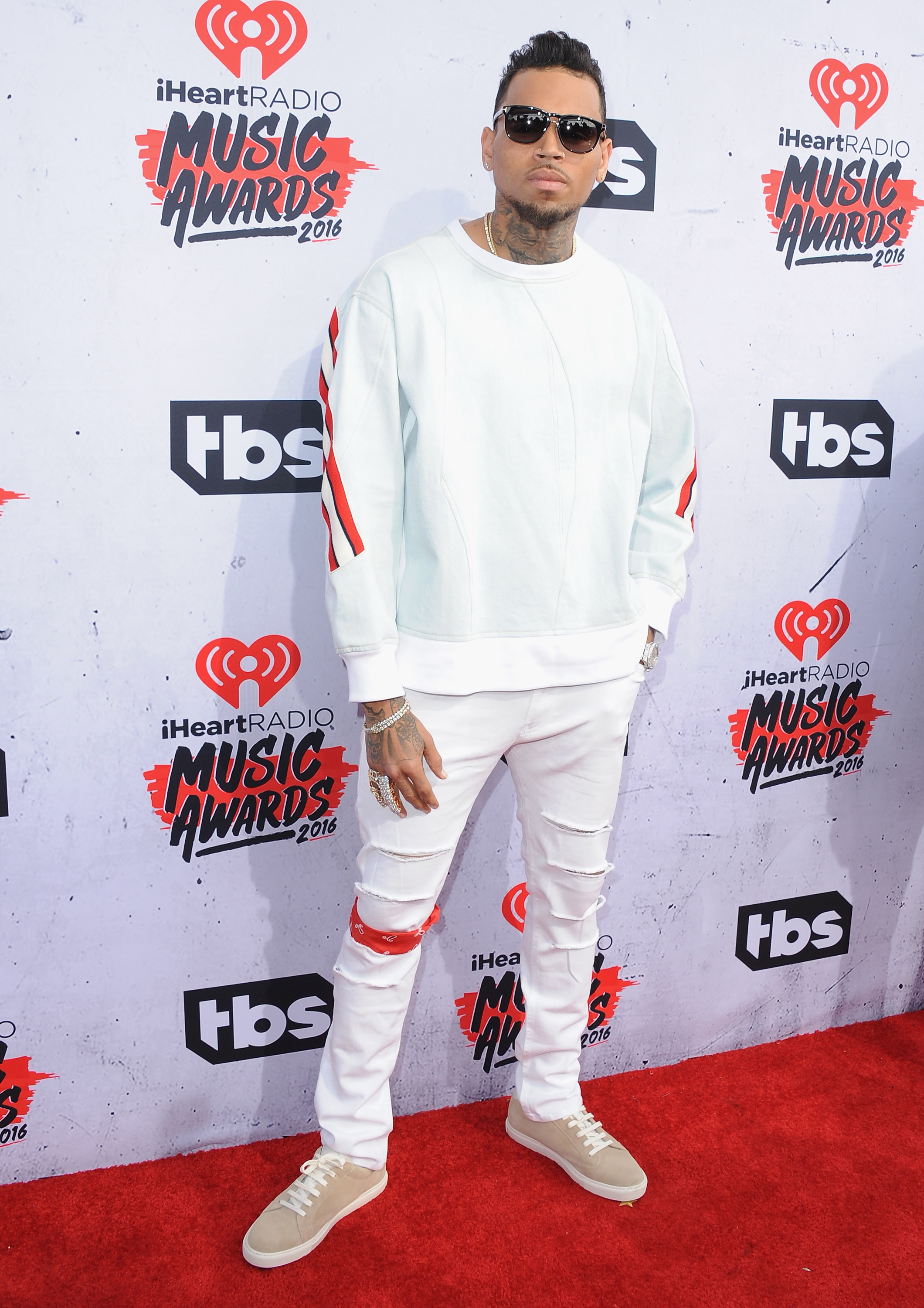 Singer arrives at iHeartRadio Music Awards on April 3, 2016 in Inglewood, California.