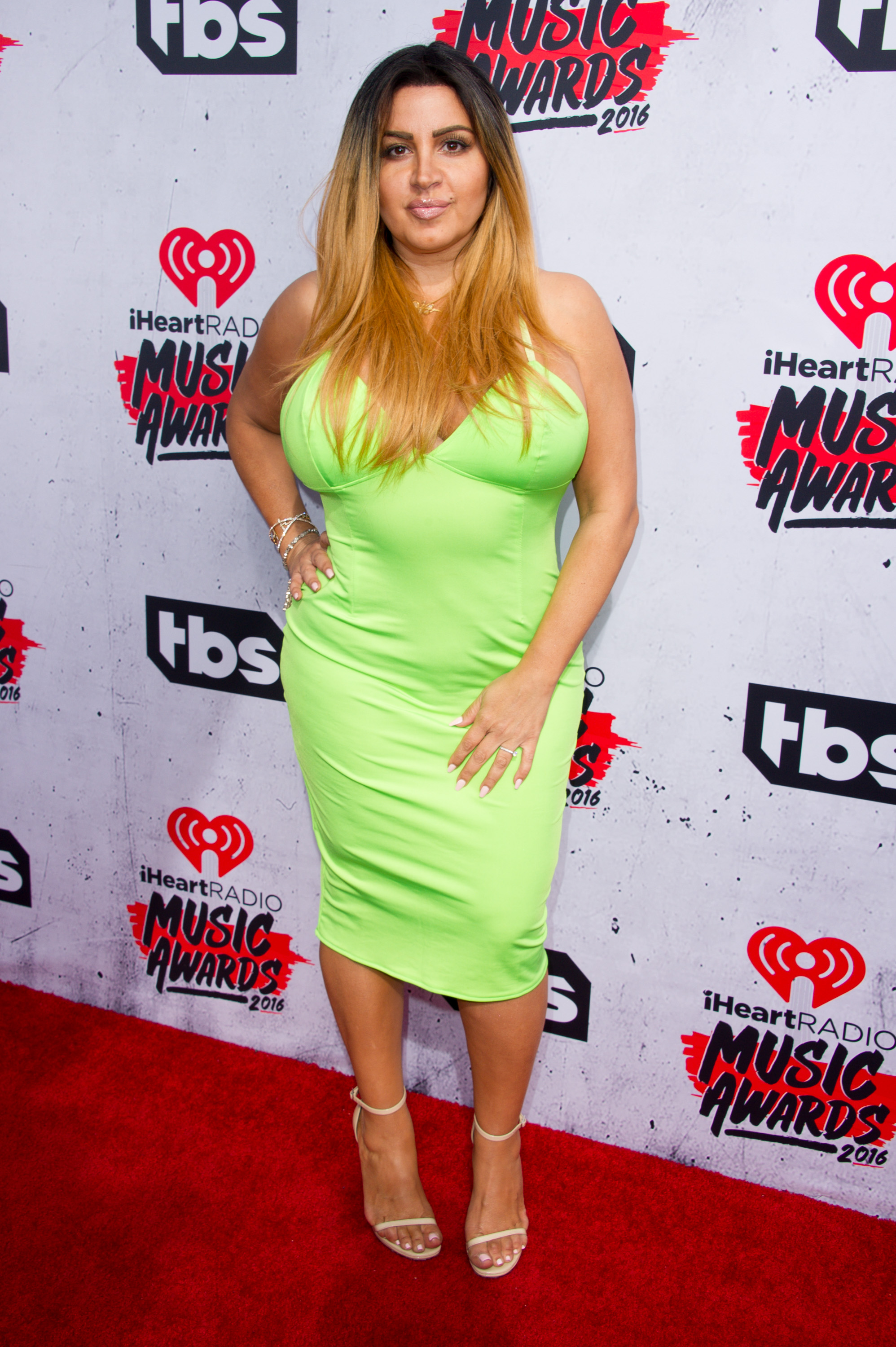 INGLEWOOD, CALIFORNIA - APRIL 03: TV personality Mercedes Javid arrives at the iHeartRadio Music Awards at The Forum on April 3, 2016 in Inglewood, California. (Photo by Allen Berezovsky/WireImage)