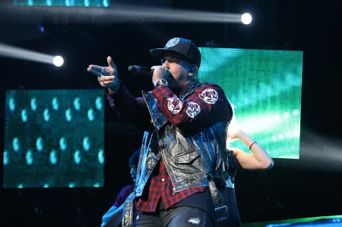 MIAMI, FL - APRIL 10:  Daddy Yankee performs during El Nuevo Zol 106.7 Miami Bash 2015  at American Airlines Arena on April 10, 2015 in Miami, Florida.  (Photo by John Parra/Getty Images)