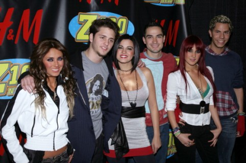 Anahi, Christopher Uckermann, Maite Perroni, Alfonso Herrera, Dulce Maria and Christian Chavez of RBD (Photo by Jim Spellman/WireImage for Clear Channel Radio New York)