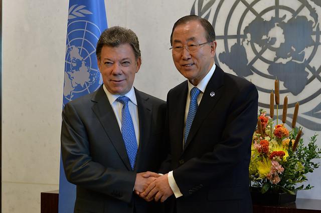 Santos en la ONU