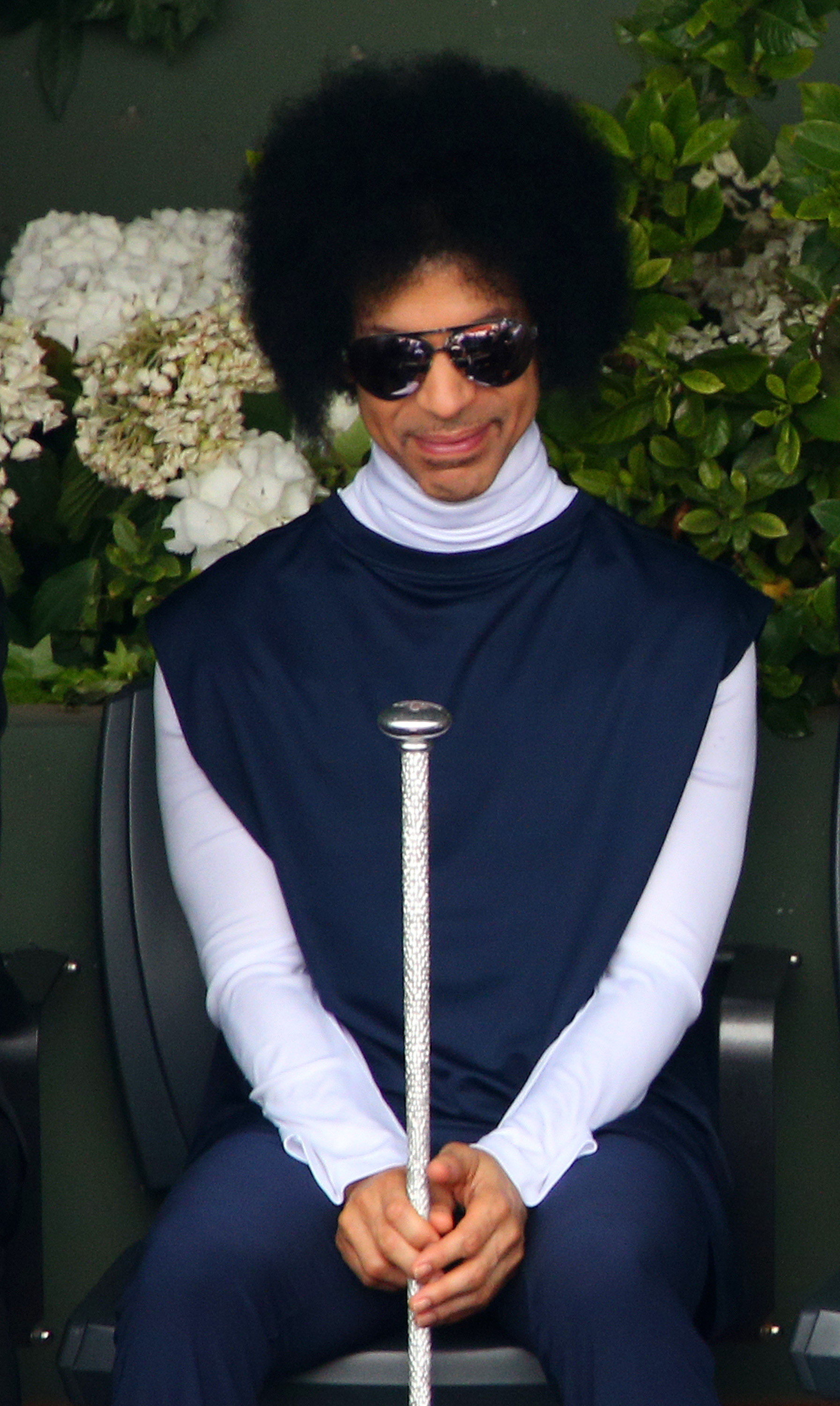 PARIS, FRANCE - JUNE 02: Prince watches the men's singles match between Rafael Nadal of Spain and Dusan Lajovic of Serbia on day nine of the French Open at Roland Garros on June 2, 2014 in Paris, France. (Photo by Clive Brunskill/Getty Images)