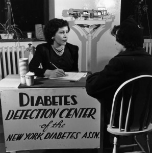 circa 1956: A patient visits a diabetes detection centre in New York. (Photo by Three Lions/Getty Images)