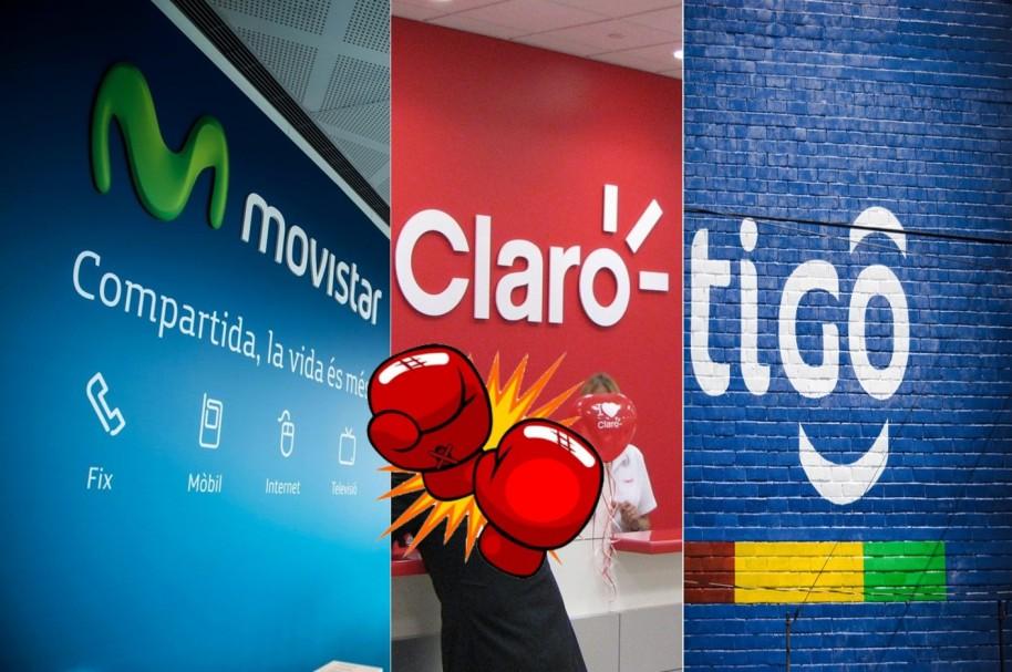 Claro, Movistar y Tigo 2
