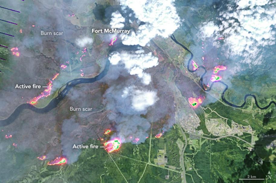 Fuego en Fort McMurray