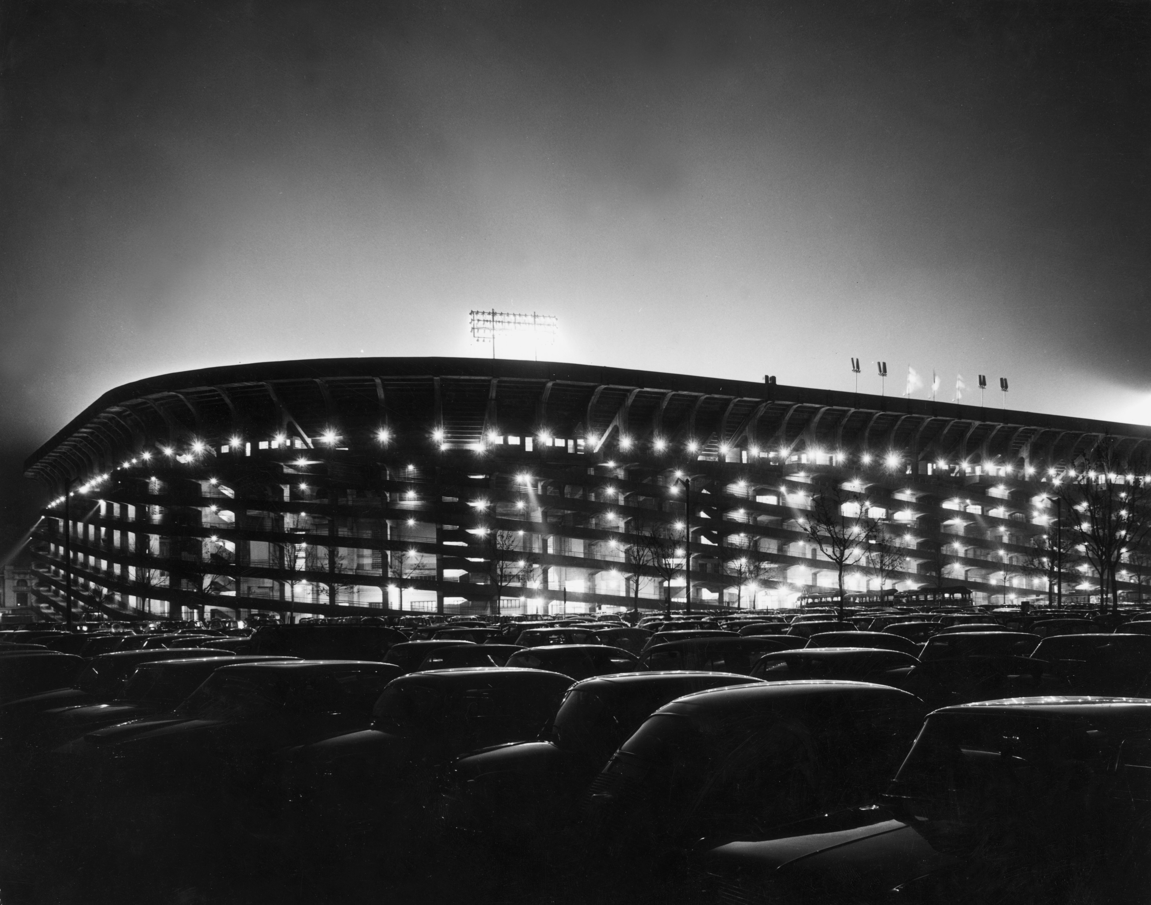 circa 1965: The San Siro football stadium in Milan where both AC Milan and Inter Milan play their home matches. (Photo by Keystone/Getty Images)