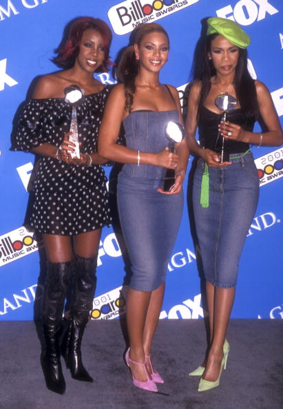 Destiny's Child (Beyonce Knowles in center) (Photo by Barry King/WireImage)