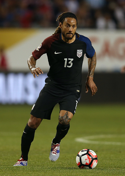 CHICAGO, IL - JUNE 07: Jermaine Jones of the United States in action during the Copa America Centenario Group A match between the United States and Costa Rica at Soldier Field on June 7, 2016 in Chicago, Illinois. (Photo by Chris Brunskill Ltd/Getty Images) *** Local caption *** Jermaine Jones