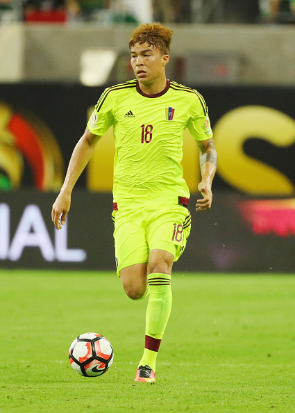 HOUSTON, TX - JUNE 13: Adalberto Penaranda #18 of Venezuela in action during the 2016 Copa America Centenario Group match between Mexico and Venezuela at NRG Stadium on June 13, 2016 in Houston, Texas. (Photo by Scott Halleran/Getty Images)