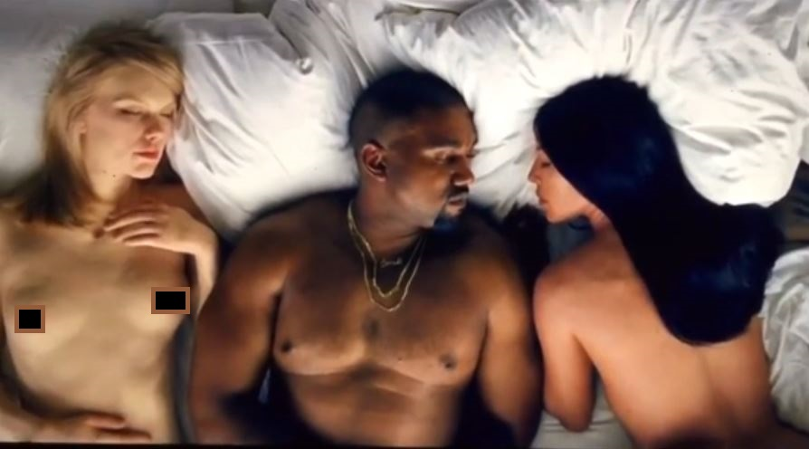 Taylor, Kanye y Kim desnudos