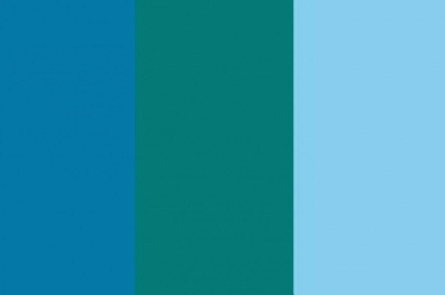 De qu color es el cuadro de la mitad azul o verde for Que color asociar con el azul turquesa