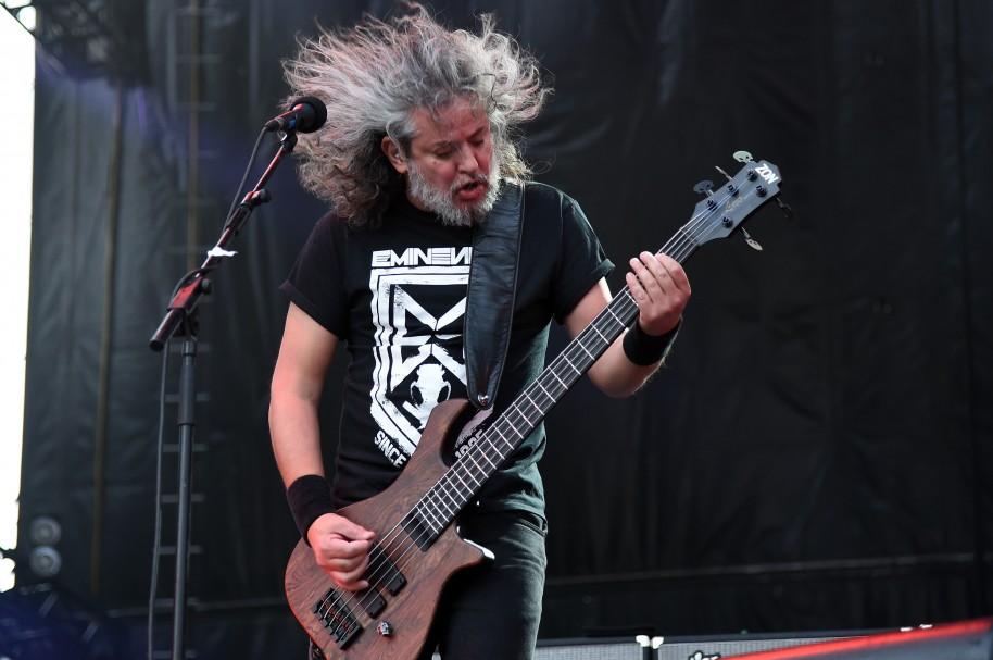 Paulo Xisto Pinto Jr., bajista de Sepultura, en Rock in Río USA