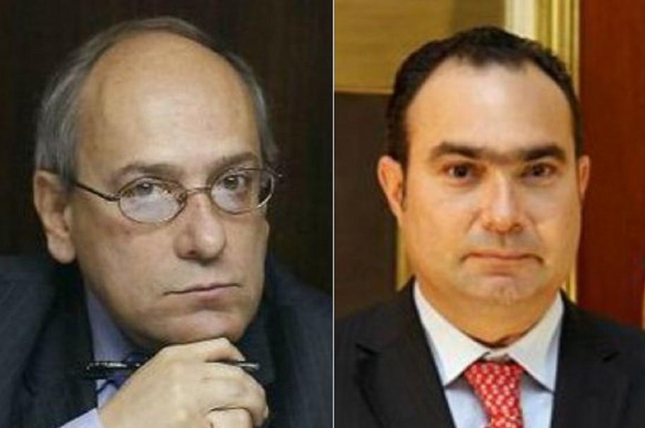 Senador José Obdulio Gaviria y el magistrado Jorge Pretelt