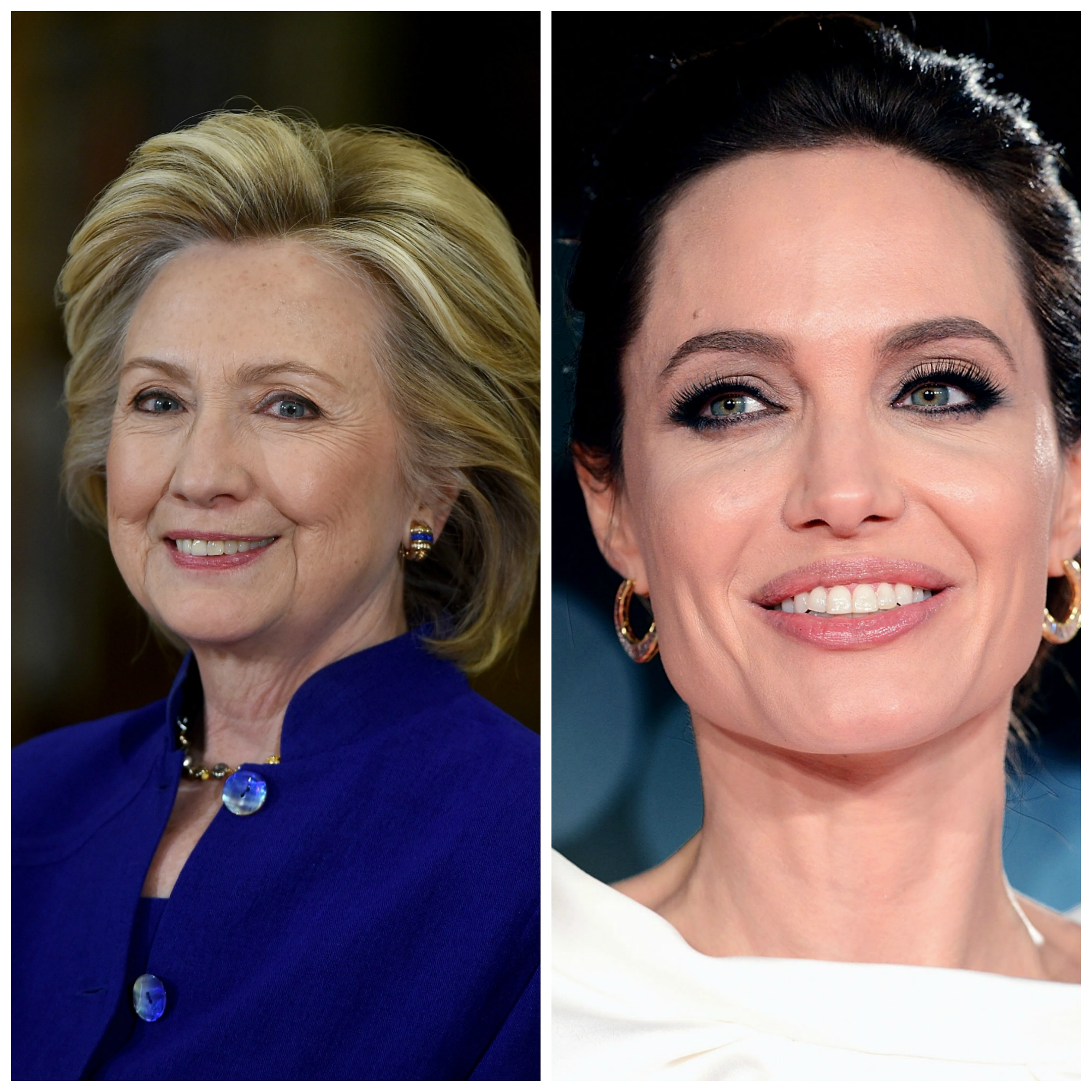 Hillary Clinton y Angelina Jolie - Getty Images