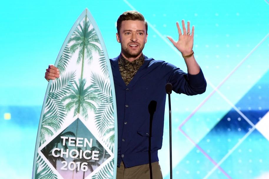Justin Timberlake en los Teen Choice Awards 2016.