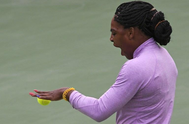 Serena Williams entrena para los Juegos Olímpicos Río 2016.
