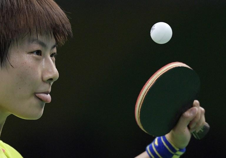 Jugador de ping-pong chino durante un entrenamiento para los Juegos Olímpicos. Pulzo.com