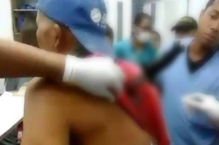Jorge Cuevas, mototaxista herido
