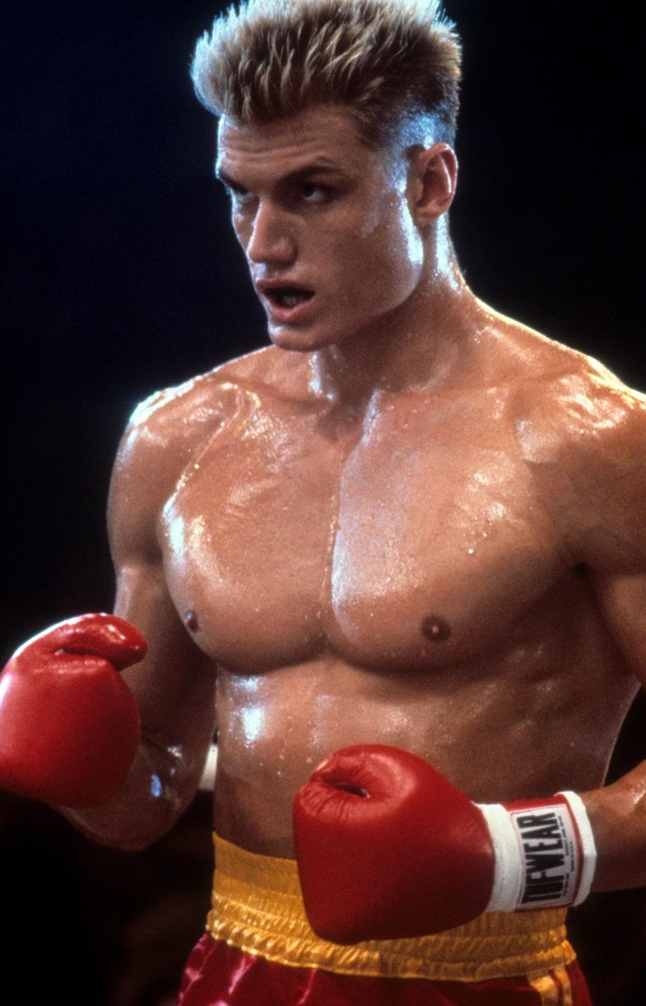 Este era el aspecto de Lundgren cuando actuó en 'Rocky' | Getty Images