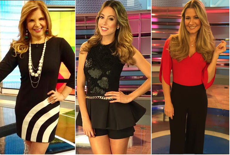 Las presentadoras de entretenimiento Diva Jessurum, Daniela Vega y  Pilar Schmitt