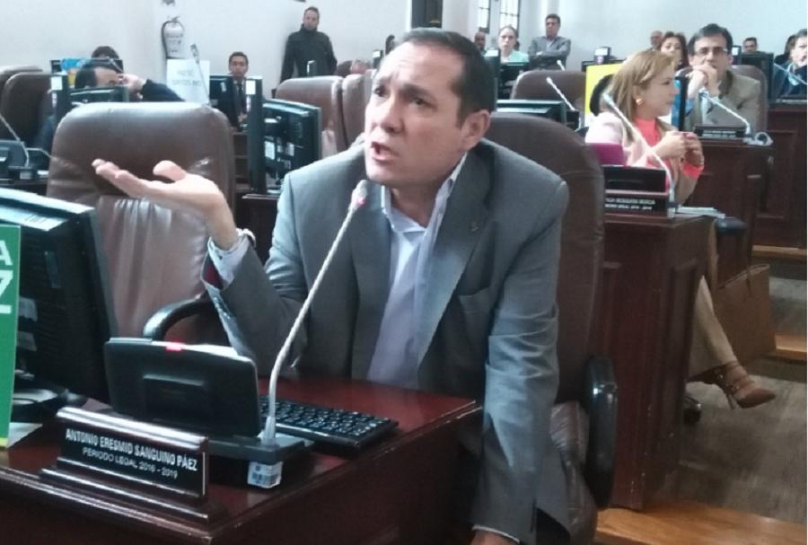 Antonio Sanguino, concejal de la Alianza Verde.