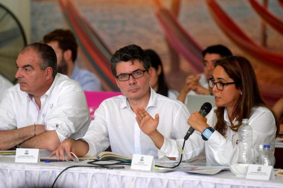 Alejandro Gaviria, ministro de Salud, en Consejo de Ministros