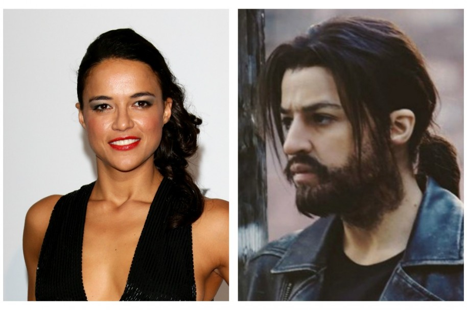 Michelle Rodríguez transformada en hombre.
