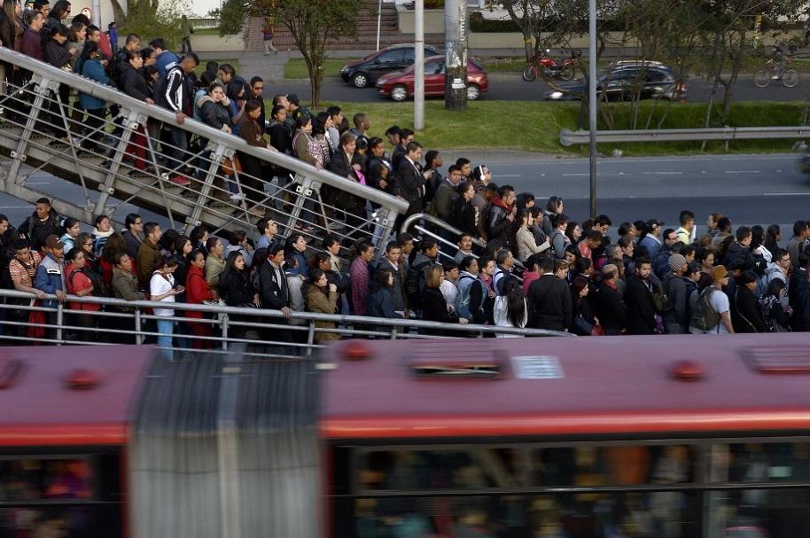 Congestión de pasajeros en Transmilenio