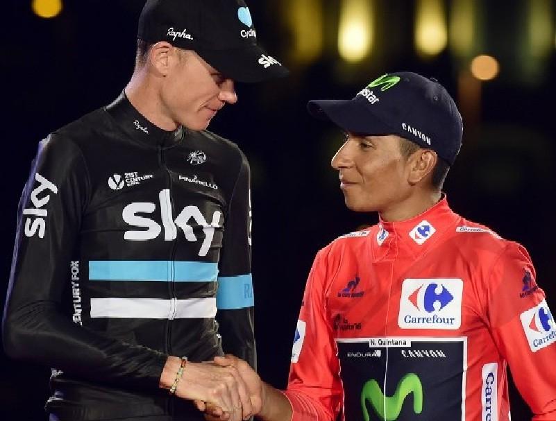 Nairo Quintana tiene una buena relación con Froome y así lo demostró al final de La Vuelta a España