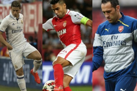 James Rodríguez, Falcao García, David Ospina y otros colombianos en la Champions League.