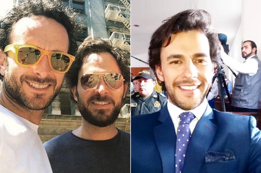Los hermanos Juancho y Manolo Cardona, y el actor Iván López. - Pulzo.com