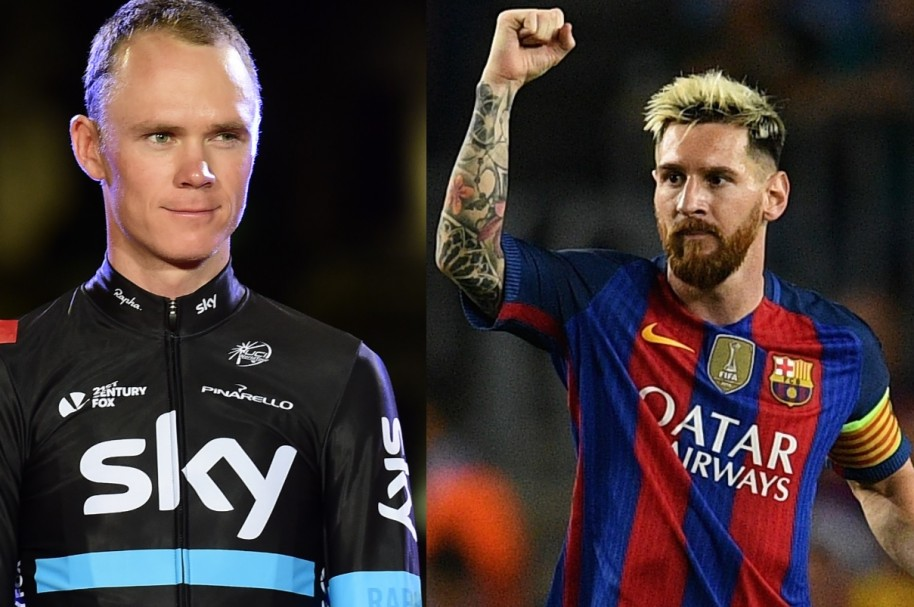 Chris Froome y Lionel Messi