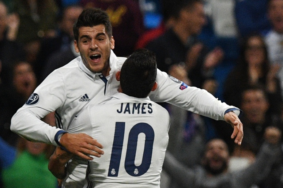 James y Morta se abrazan en victoria del Real Madrid