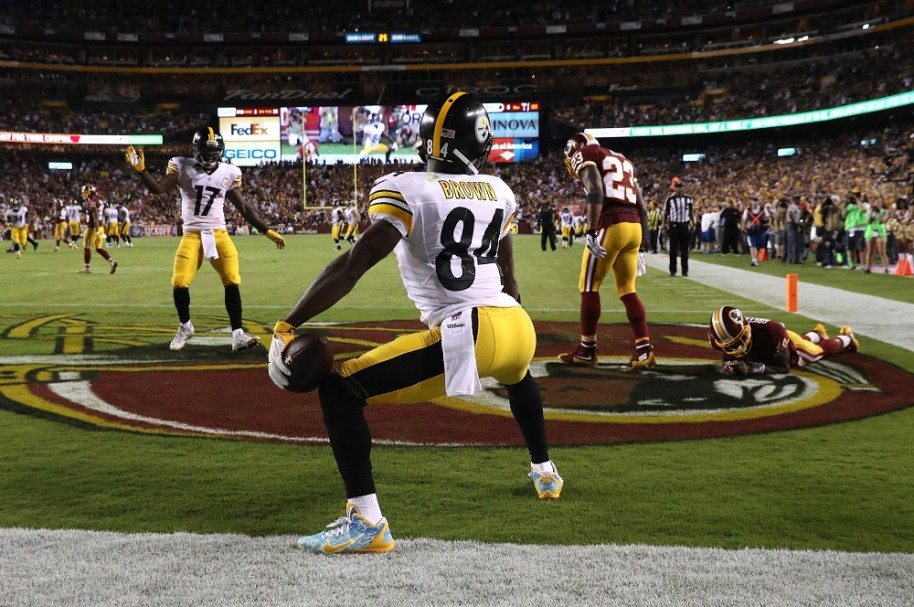 Antonio Brown haciendo 'twerking''