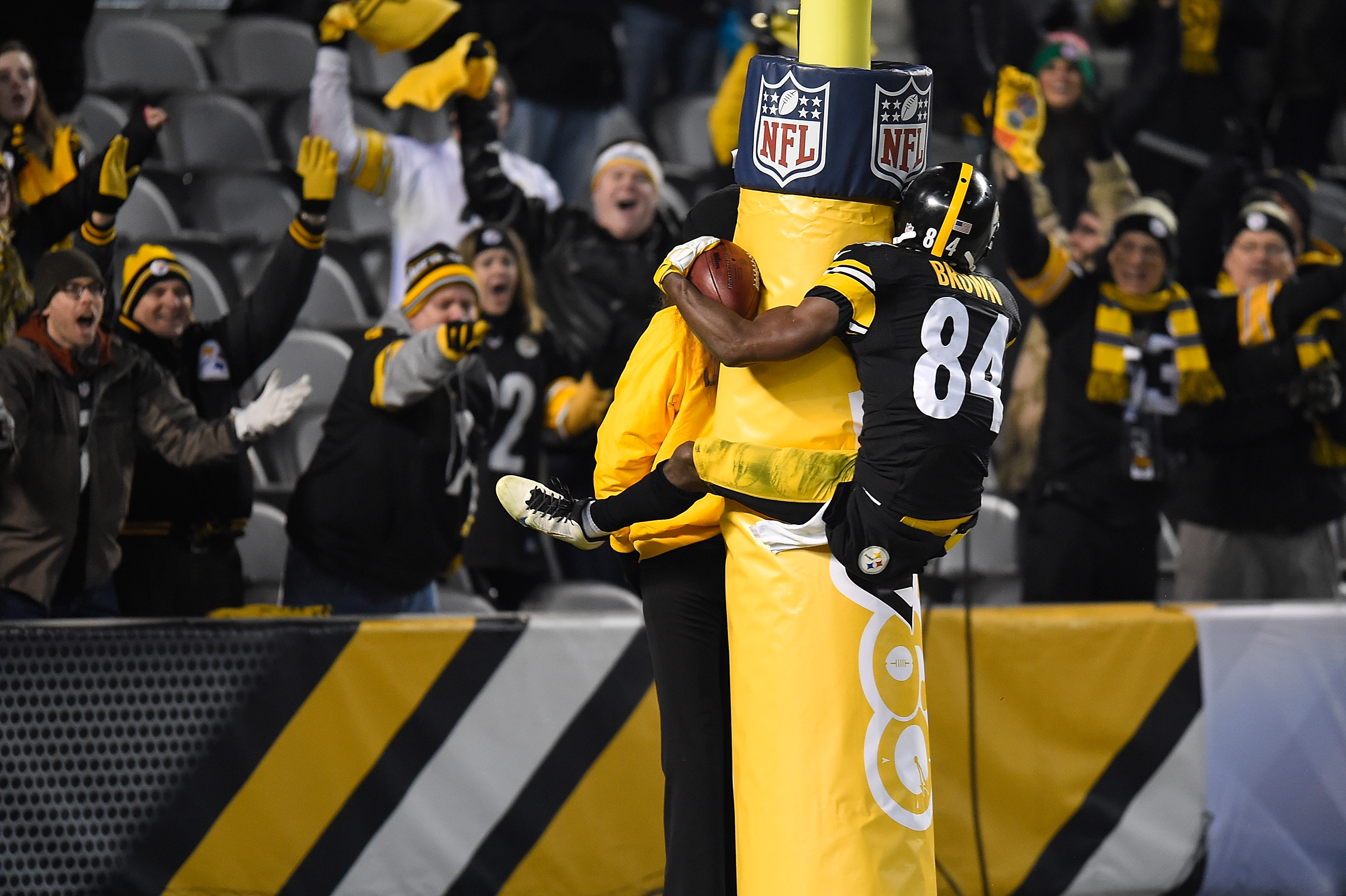 Celebración de Antonio Brown