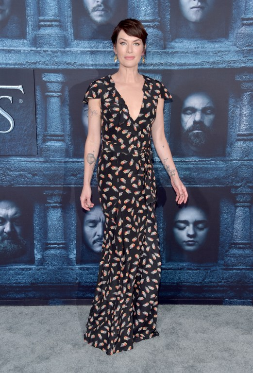 "HOLLYWOOD, CALIFORNIA - APRIL 10: Actress Lena Headey attends the premiere of HBO's ""Game Of Thrones"" Season 6 at TCL Chinese Theatre on April 10, 2016 in Hollywood, California. Alberto E. Rodriguez/Getty Images/AFP"
