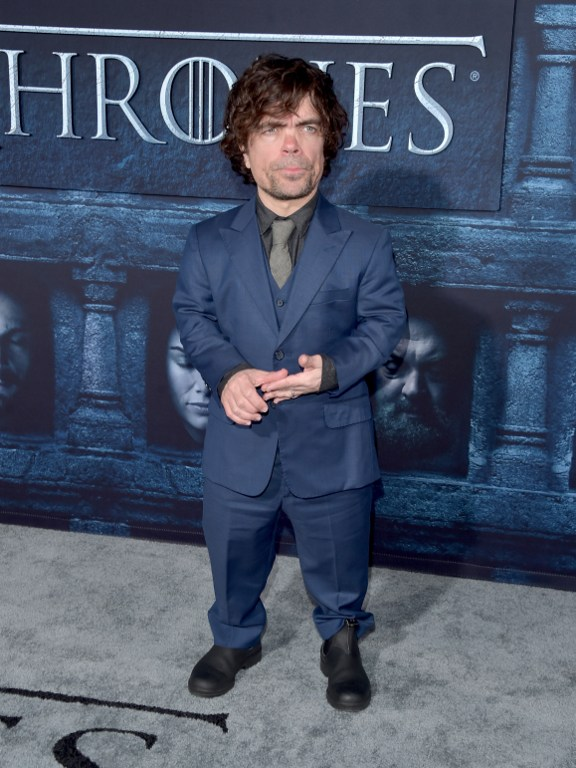"HOLLYWOOD, CALIFORNIA - APRIL 10: Actor Peter Dinklage attends the premiere of HBO's ""Game Of Thrones"" Season 6 at TCL Chinese Theatre on April 10, 2016 in Hollywood, California. Alberto E. Rodriguez/Getty Images/AFP"