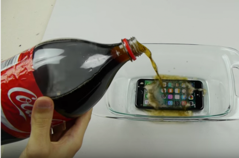 IPhone 7 vs. Coca-Cola.