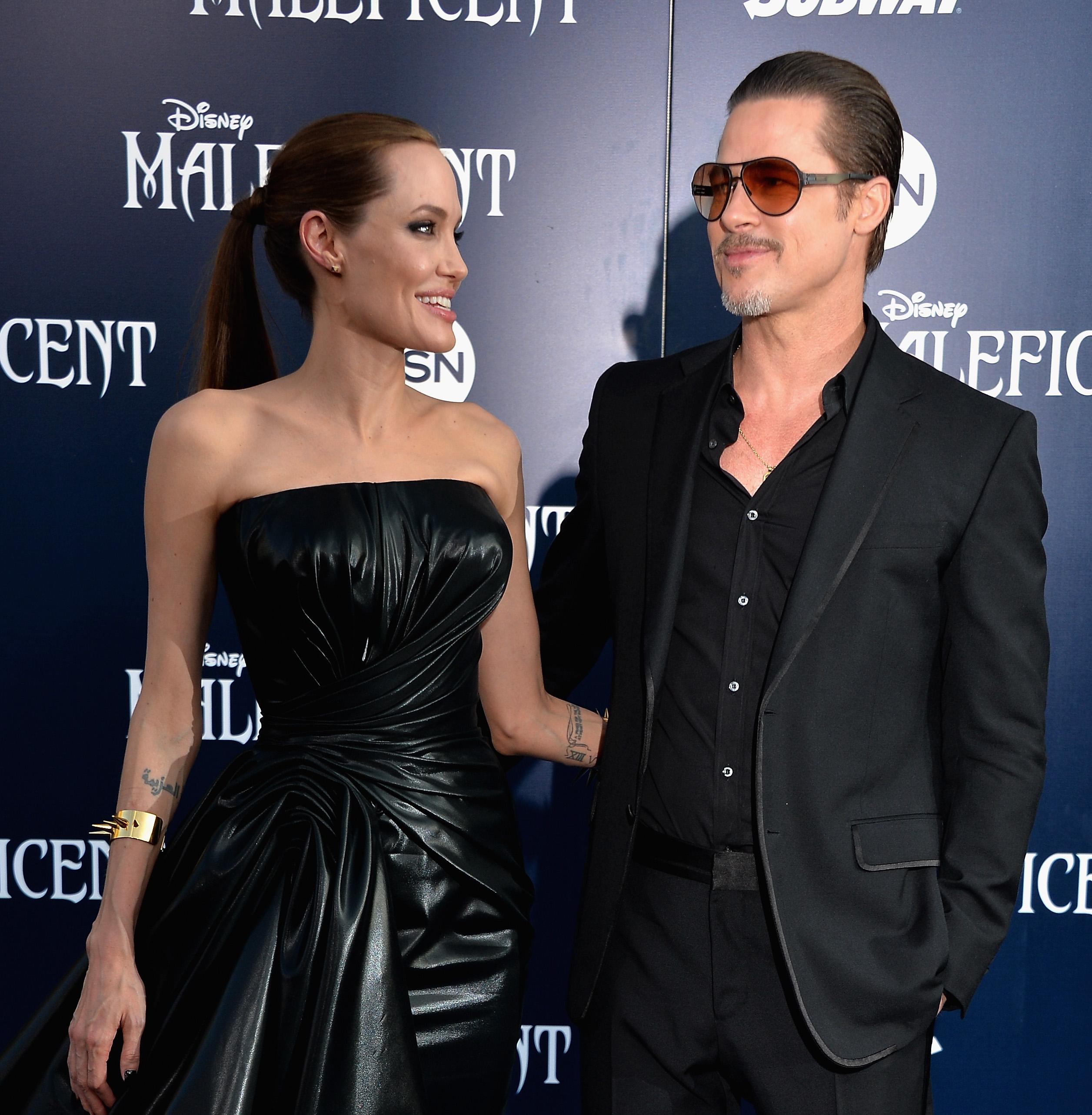Brad Pitt y Angelina Jolie 1