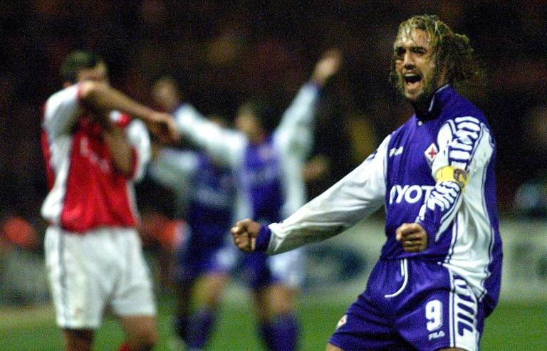 Gabriel Batistuta cuando jugaba para Fiorentina