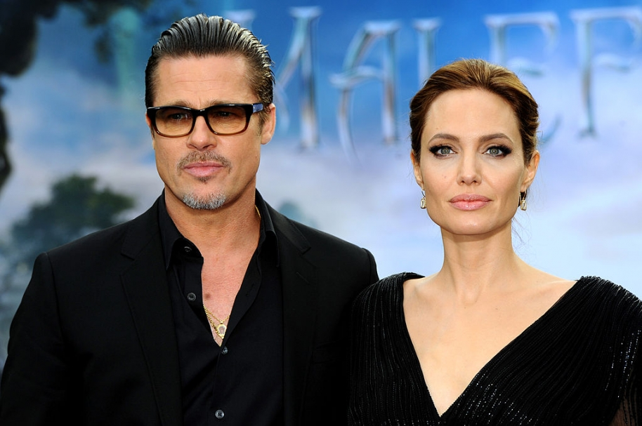 Angelina Jolie y Brad Pitt, actores de Hollywood.