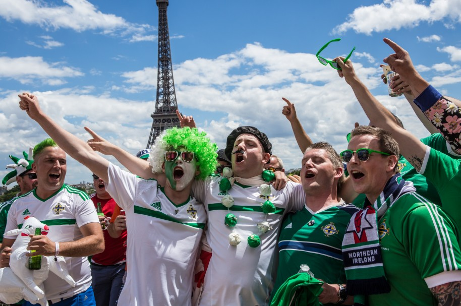 Wales and Northern Ireland Fans In Paris