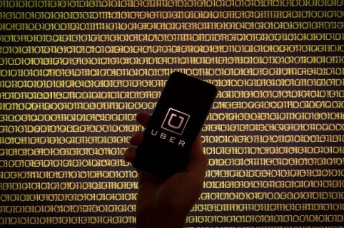Uber Logo on an iPhone