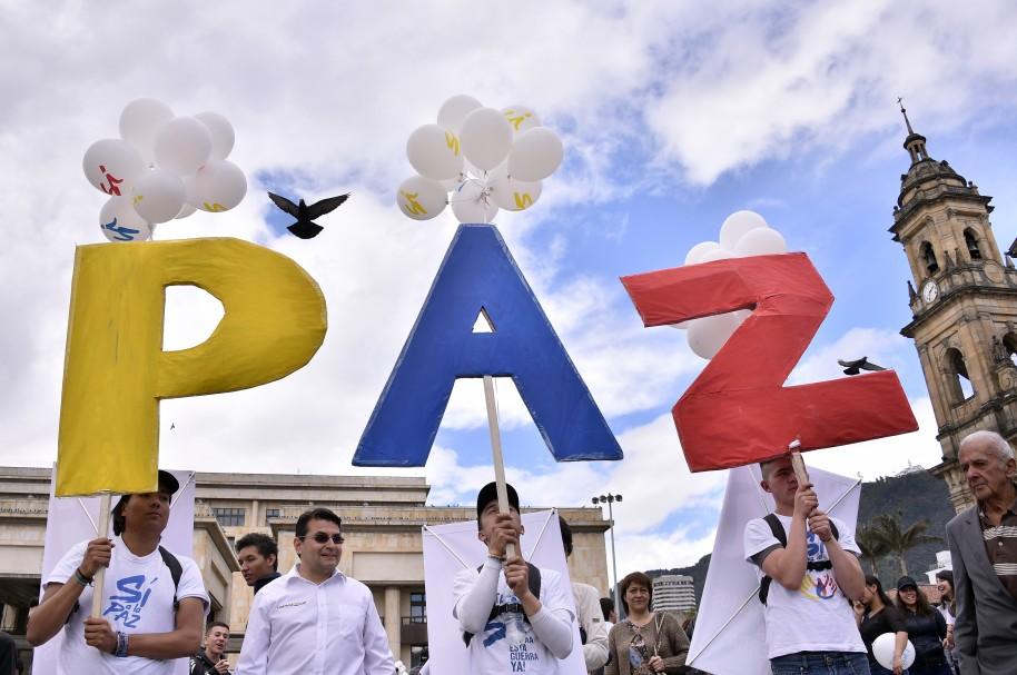 Manifestaciones a favor de la paz