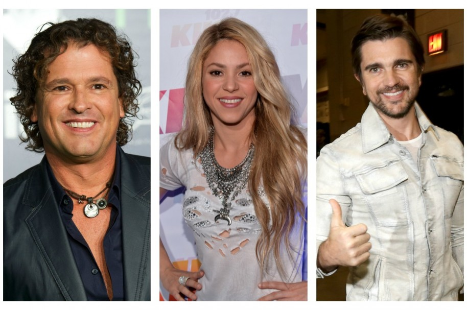 Carlos Vives, Shakira y Juanes