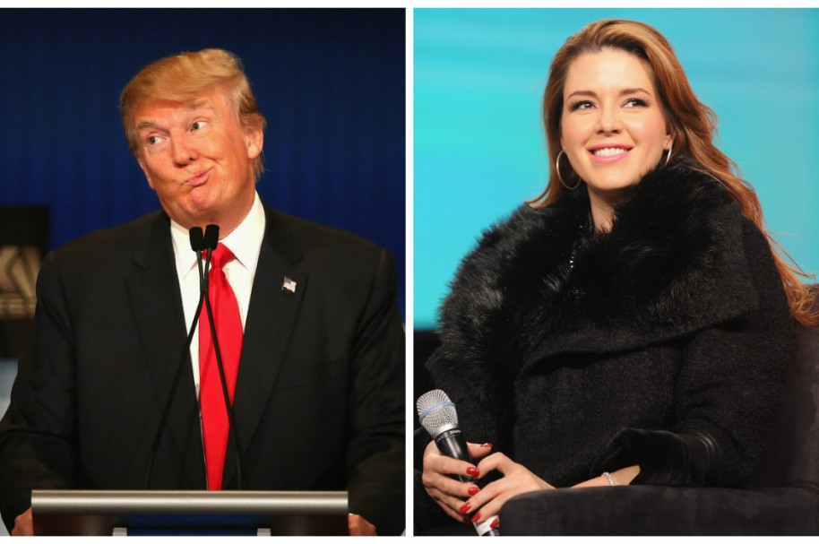Doland Trump y Alicia Machado