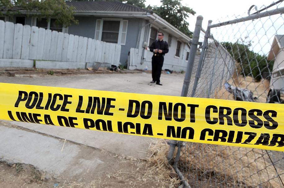 Escena de crimen en Estados Unidos.