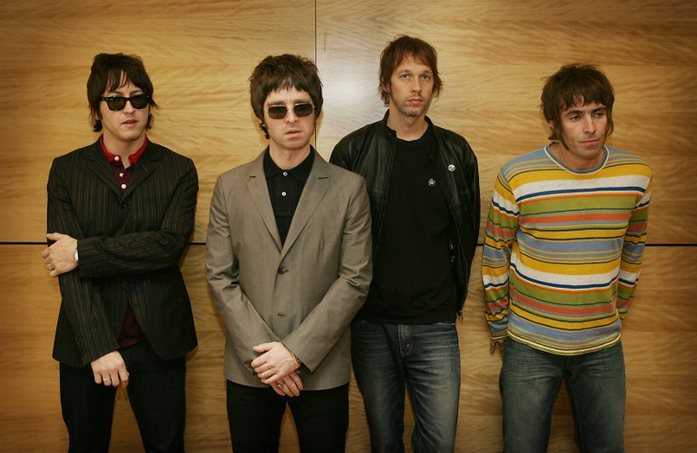 Gem, Noel Gallagher, Andy Bell Y Liam Gallagher. Oasis.