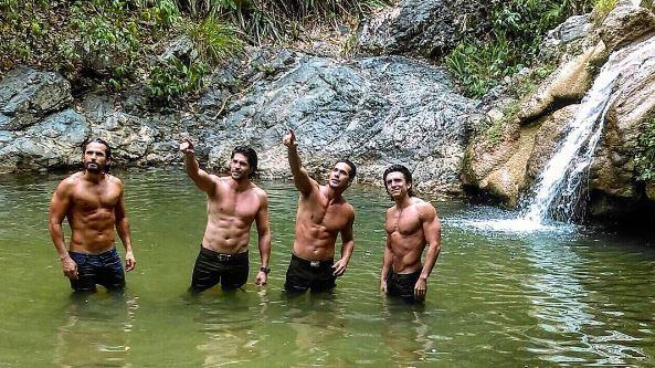 Hombres de la serie Sin senos sí hay paraíso